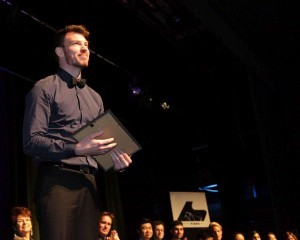 Ben Austin receiving prize